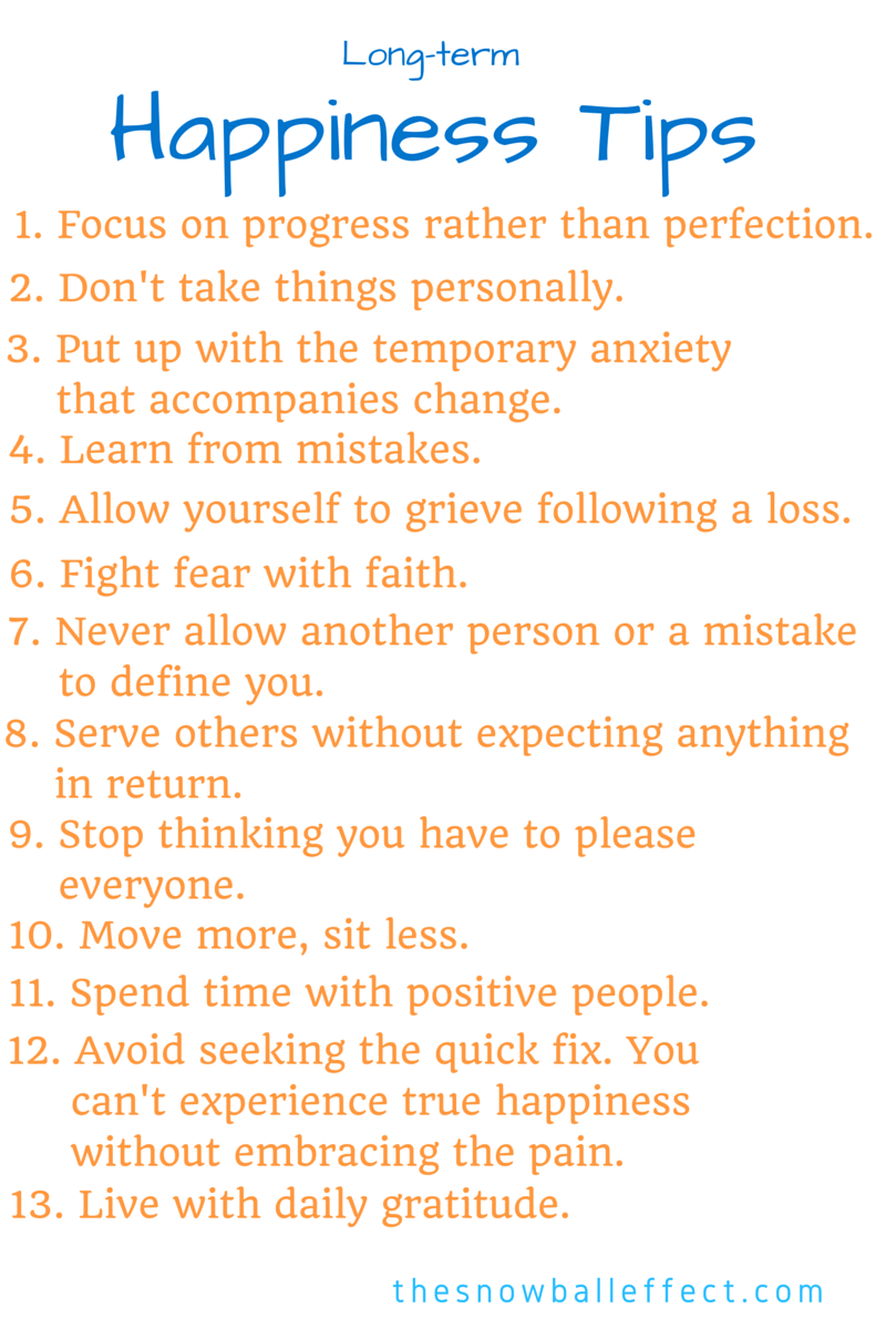 13 Happiness Tips