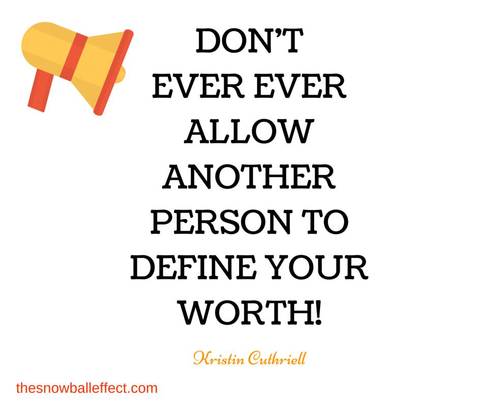 define your worth